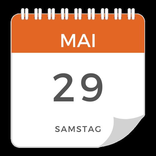 Samstag, 29. Mai